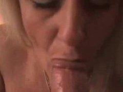 Milf sucking cock and cum. Jordan from dates25.com