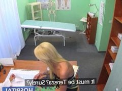 FakeHospital Sexy suspicious doctors wife has hot sex with him in office