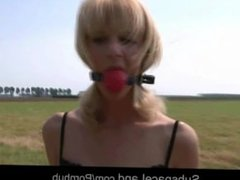 Bdsm educationnal measures for unobedient blonde