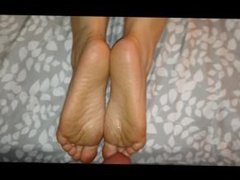 My wifes sexy soles getting loaded