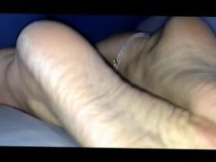 wifes awesome hot wrinkled rough dry soles close up
