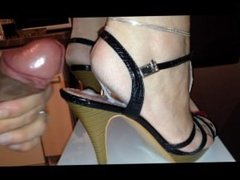 big cum load on wifes sexy rough heels with slutty high heels