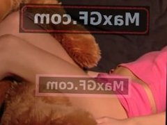 Sweet Jenny likes teddy bears to pet and cuddle sexy beautiful cute model p