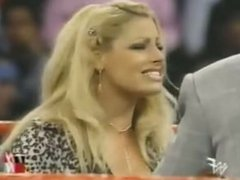 Trish Stratus barks like a dog then strips