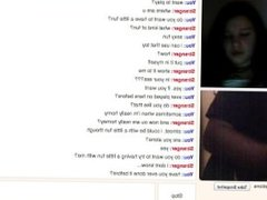 Omegle Girl watches me put a dildo in my ass