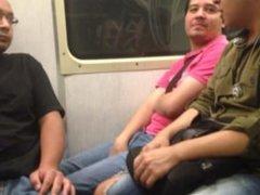 Mamada en el metro del DF linea naranja
