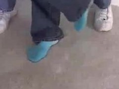 Blue socks bound
