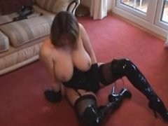 Fe from dates25.com - Big tits in leather