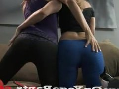 Ashley Sadie and Dava In Yoga Pants CUMSHOTS HANDJOBS FUCKING