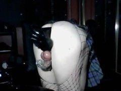 crossdresser deep dildo