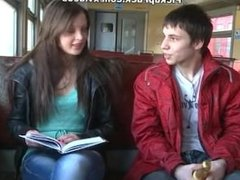 Liona Levi picked in a train and penetrated in mouth and pussy