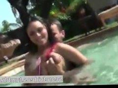 Boobs Sucking in Swimming Pool