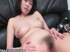 Chiyo Fujimura - Busty JAV Mature Riding On A Young Cock