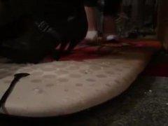 High heel crush surf board