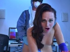 Hot sexbot gets fucked in the cowgirl position by her doctor