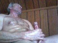 Mature man wanking