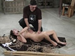 Asian babe loves wax and toys