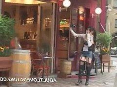 Shy Japanese schoolgirl masturbating on camera from ADULTLOVEDATING.COM