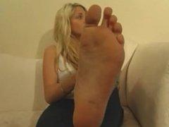 pretty model feet
