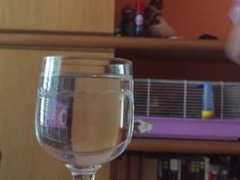 Handjob in a glass