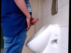 Jerking at the urinal