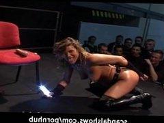 Hot horny girl dildoing her wet pussy