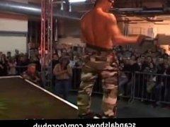 Sexy musculed guys seduce their fans