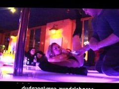 Girl showing off her stripper skills