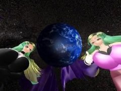 Giantess MMD - Giga Demon Goddesses Show Off