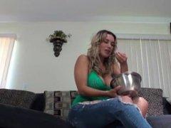Megan Jones eats all men