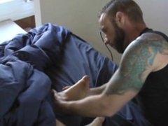 Troy Worships Vinnie's Sleeping Feet