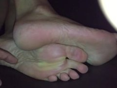 Tickling wife's sexy soles