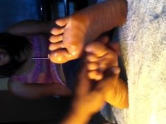 Pretty Ebony in socks