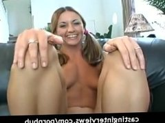 Cute porn virgin in her very first porn scene