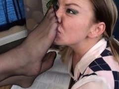 Teacher Pantyhose...Detention Smelling