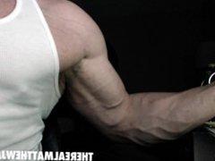 Matthew James Flexes His Biceps - Veiny and Hard