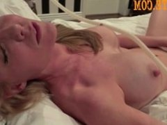 Hot blonde with big boobs make a great blowjob and get cum over face