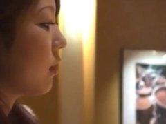 Asian girl smoking