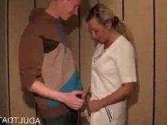 Blond Amateur fucked in bedroom - homeporn