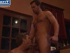 Athletic Studs Suck and Fuck in Kitchen