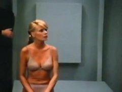 Sweet Blonde in Bra and Panties Abucted by Aliens