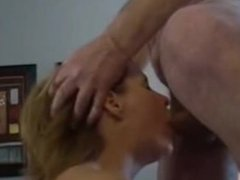 Married woman Lisa sucking the cum from my dick