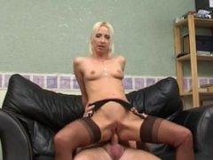 Boss fucks his hot secretary at her home after work