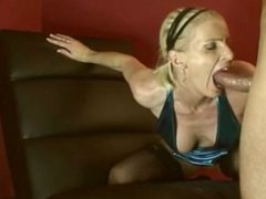 Middle-aged blonde cougar getting fucked hard