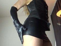 Leather Corset and Mini Skirt - Domina Lola