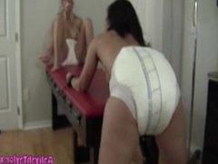 Diaper Punishment 2 girls 1 enema