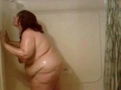 Mature bbw in the shower. Malka from 1fuckdate.com