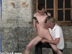 Ebony next door gay men thug Sean McKenzie is corded up and at the grace
