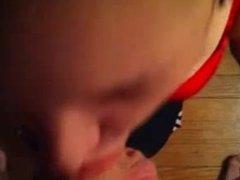 The lipstick blowjob. Elanor from 1fuckdate.com