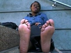 Black girls sweaty smelly feet